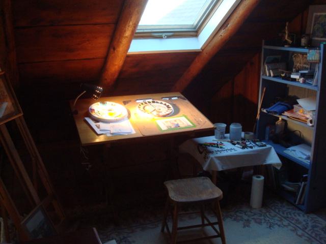 My cosy studio in the loft