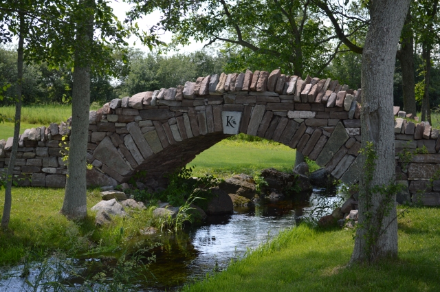 Dry stone bridge at Karlo Estates Winery